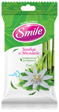Smile Daily Bamboo & Edelweiss wet wipes 15pcs.
