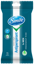 Smile Antiperspirant for Men wet wipes 15pcs.