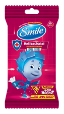 Smile Fixies wet wipes with antibacterial effect 15pcs.