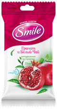 Smile Daily Pomegranate & White Tea wet wipes 15pcs.
