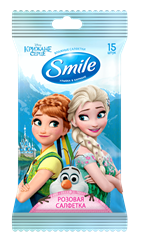 Smile Disney Frozen rose wet wipes 15pcs.