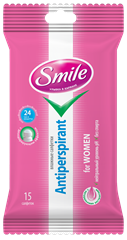Smile Antiperspirant for Women wet wipes 15pcs.