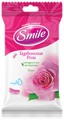 Smile Daily Bourbon Rose wet wipes 15pcs.