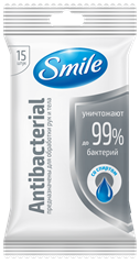 Smile Antibacterial wet wipes enriched with spirit 15pcs.