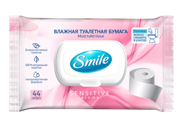 Smile Sensitive wet toilet paper for adults